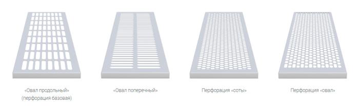 Типы-перфорации-напольных-конвекторов-VERANO